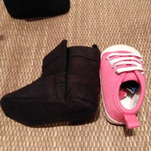 RISING STAR Shoes - NWOT GIRL BUNDLE OF 2 - FRINGE BOOTS & SLIP ONS